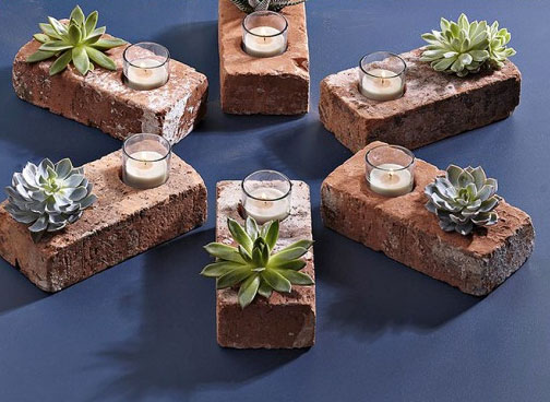 DIY:  Awesome Brick Succulent Planter   ReadyMade
