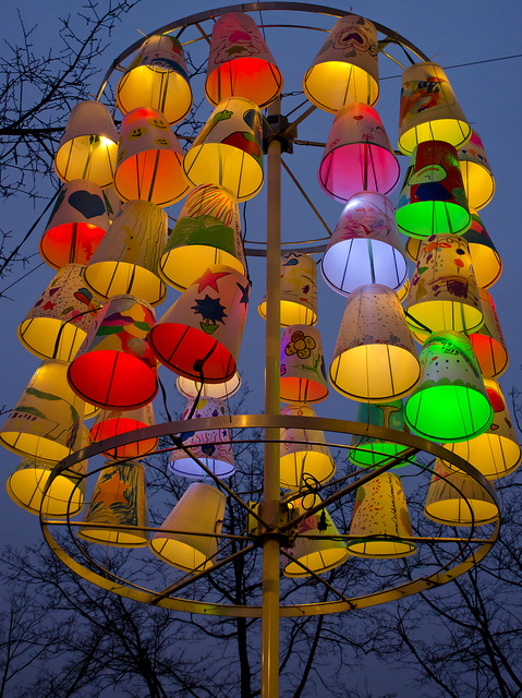 Light Festival 2012 installation | by Joop Reuvecamp | via Flickr | AMSTERDAM