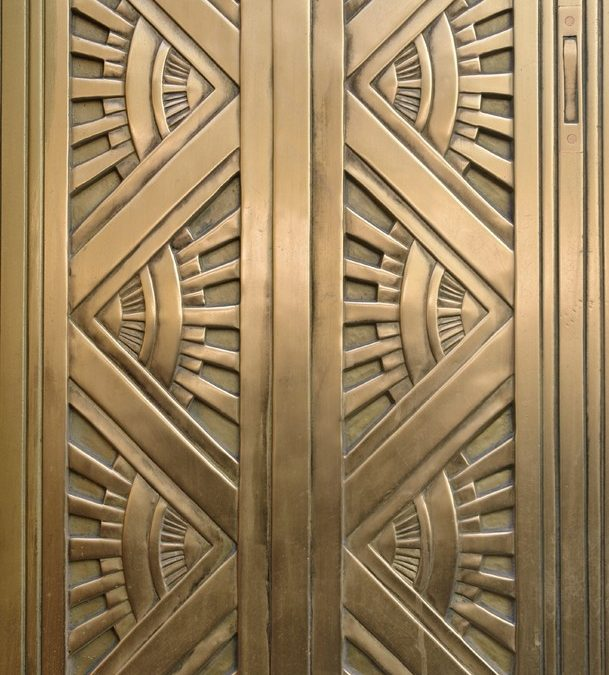 ART DECO DOOR | Computing & Library Services, University of Huddersfield, West Yorkshire