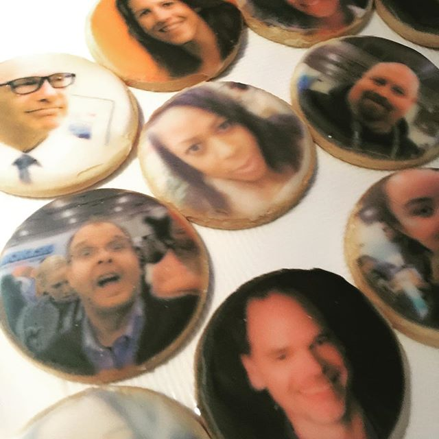 the #bizbashny after-party had all sorts of fun goodies for guests including these selfie cookies. who do you spy?