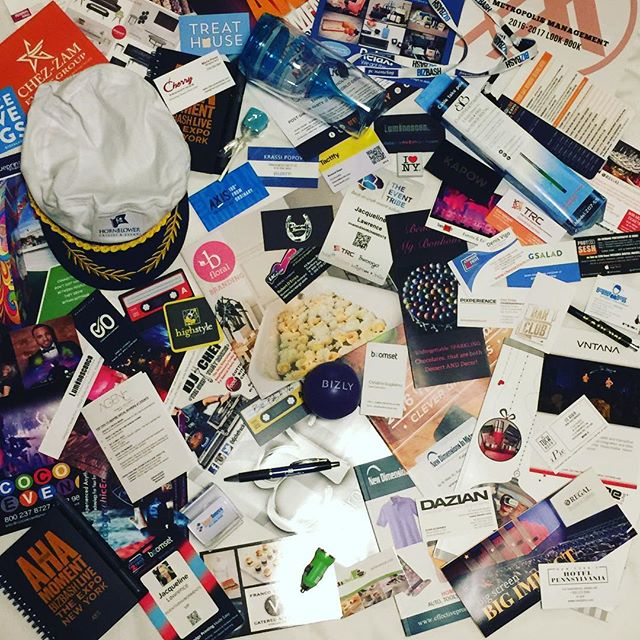 needless to say, we left the #bizbashny event with a ton of new friends + some fun swag!