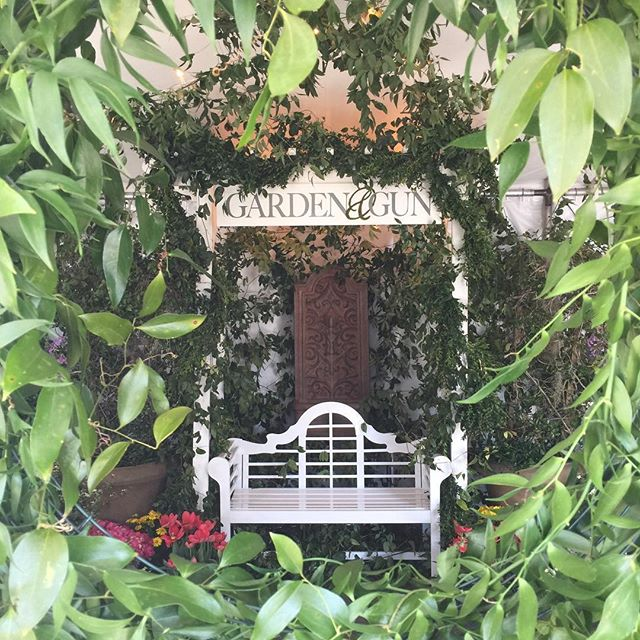 step inside the @gardenandgun tent @sewechs for a respite + to snap your photo.