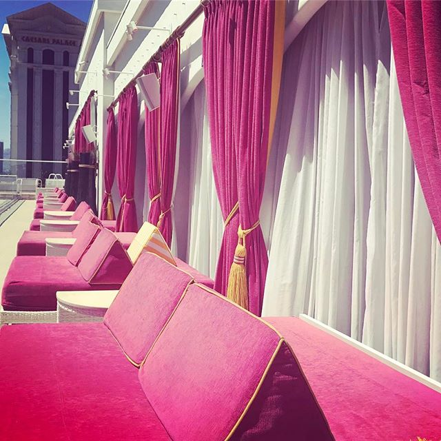 it's a pool kinda day. whose joining us! …..#dowhatyoulove #lovewhatyoudo #werk #travel #traveler #corporateevents #iE #conferences #east #west #designer #production #pool #drias #cabana #vegas #sun #poolside #spoiled #pink #sunshine #bikini #fun #hotpink #caesarspalace