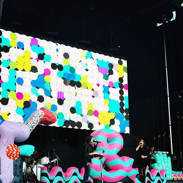 candy colored magic @boston_calling w/ @teganandsara