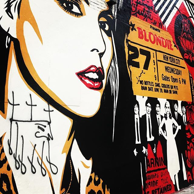 spotted: #blondie by #charleston native @obeygiant right around the corner from our place in #nyc | for @thelisaprojectnyc