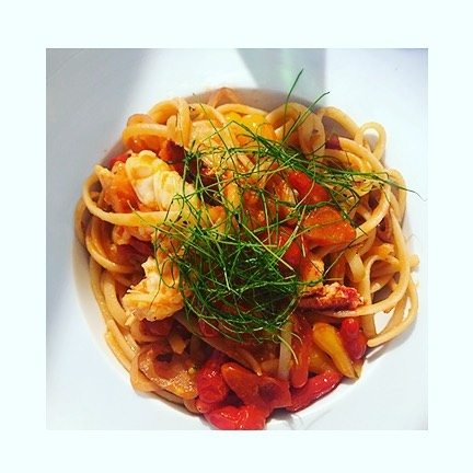 #daydreaming of this lovely handmade pasta + lobster dish at #LAGO